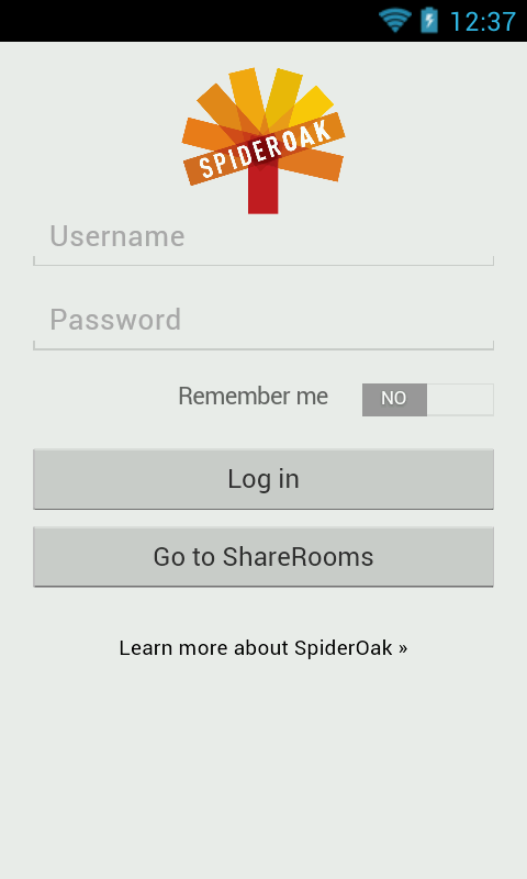 SpiderOak - screenshot