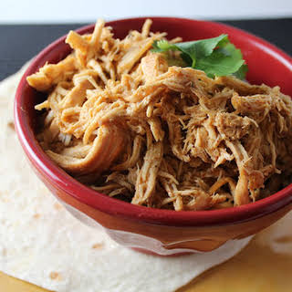 Crock Pot Cafe Rio Copycat Shredded Chicken.