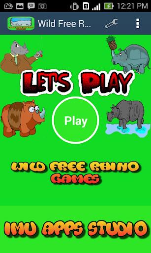 Wild Free Rhino Games Kids