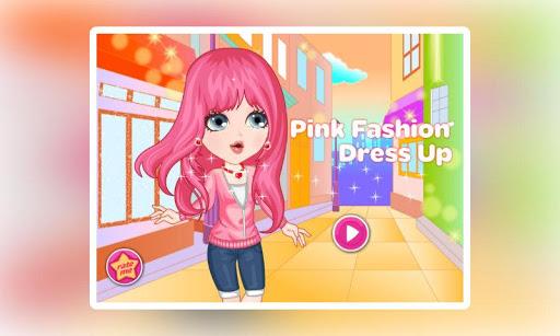 ピンクのファッションドレス