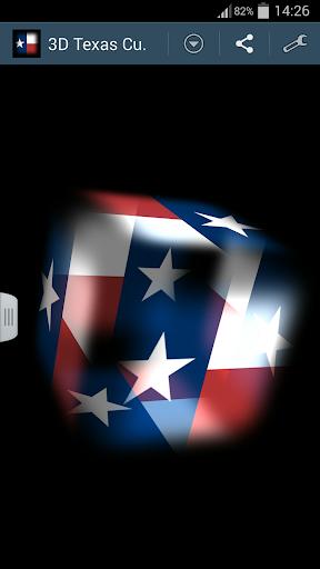 3D Texas Cube Flag LWP