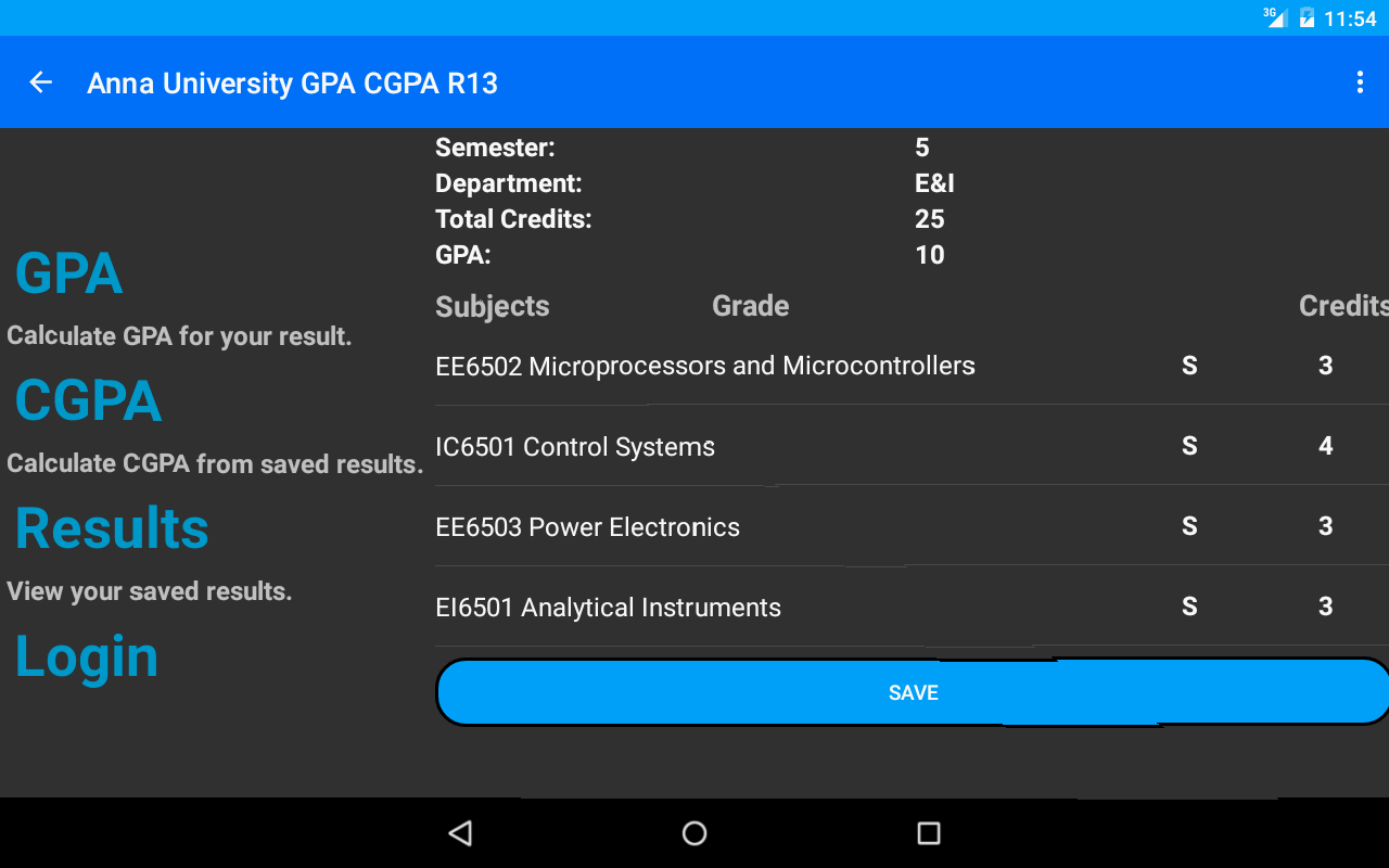 Student's Desk - GPA - CGPA - screenshot