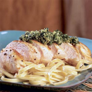 Pan-Seared Chicken with Italian Salsa Verde.