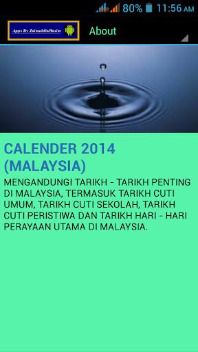 CALENDER 2015 MALAYSIA