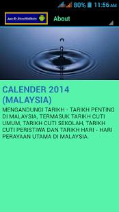 CALENDER 2014 MALAYSIA