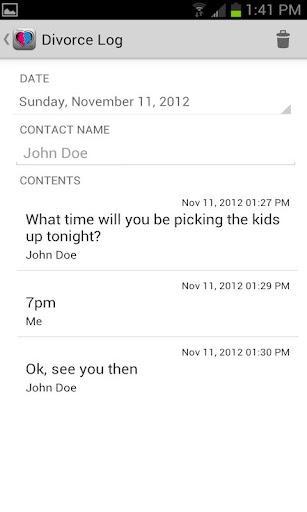 【免費生產應用App】Divorce Log-APP點子