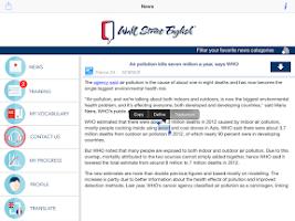 Screenshot of Wall Street English