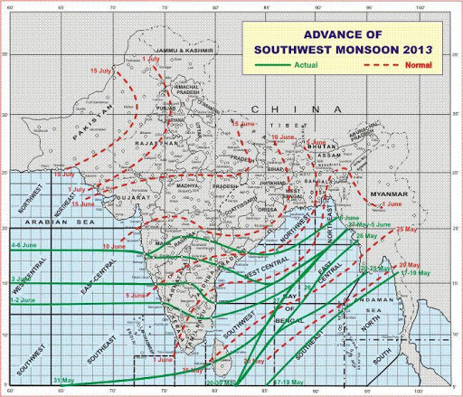 Monsoon 2013 Daily Update