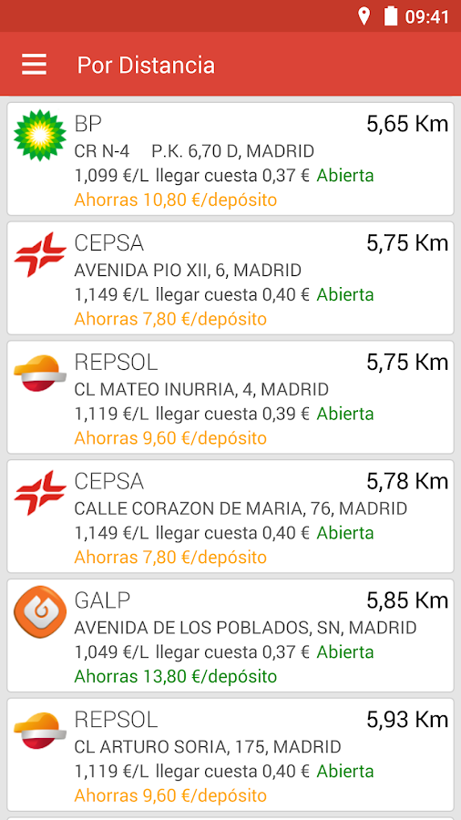 Gasolineras España- screenshot