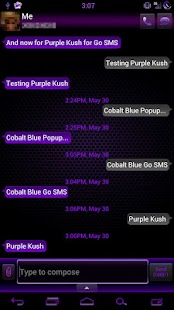 GO SMS Pro Purple Kush Theme - screenshot thumbnail
