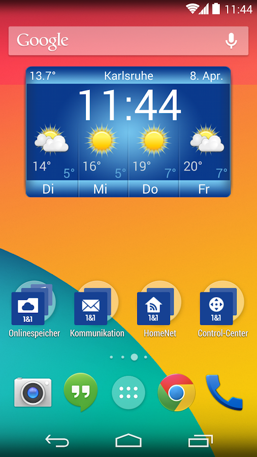 1&1 Wetter Widget - screenshot