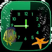 Aquarium Clock widget