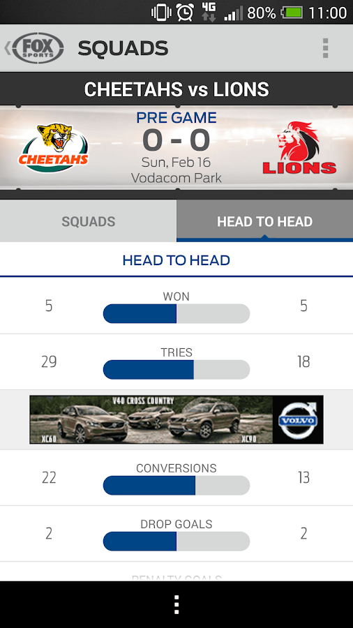 Super Rugby Match Centre- screenshot