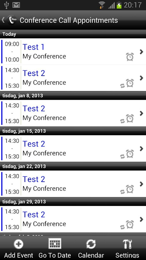 Conference Caller Pro - screenshot