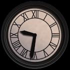 Reloj de torre cinematográfico retro icon