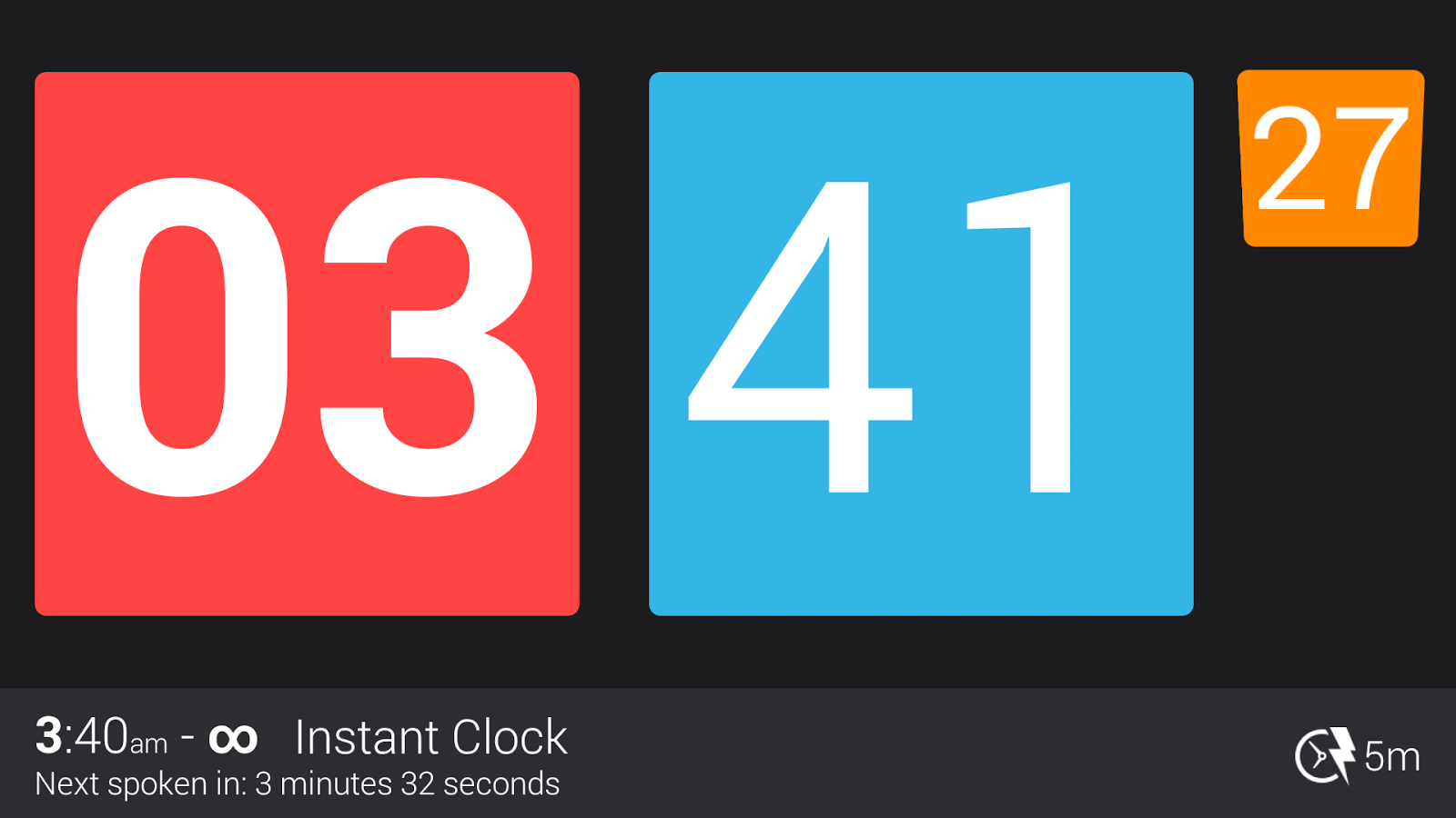 Talking Clock Pro - screenshot