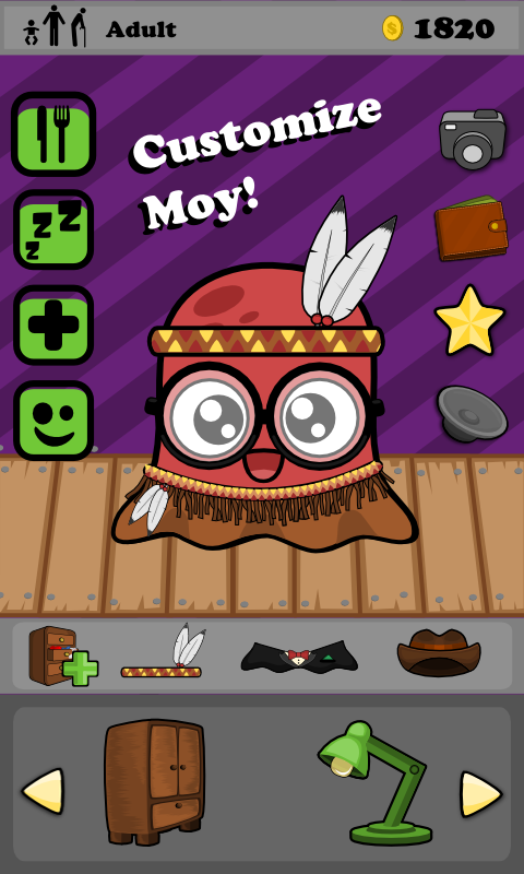 Moy 🐙 Virtual Pet Game- screenshot