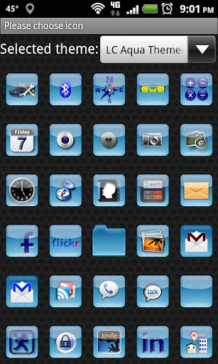 LC Aqua Theme Nova/Apex/Evie Launcher 1.05 screenshots 6