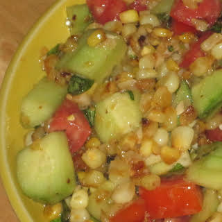 Corn, Cucumber and Tomato Salad.