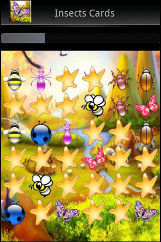 Insects Memory Cards Game - screenshot