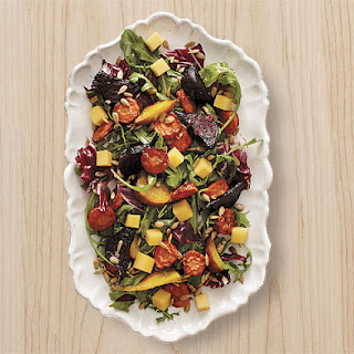 Roasted Beet and Carrot Salad with Aged Gouda and Sunflower Seeds
