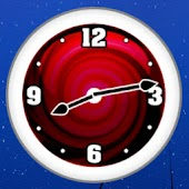 Red Clock Widget