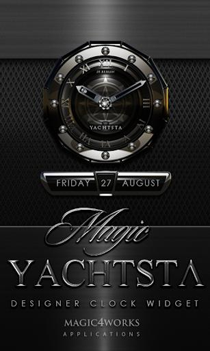 Yachtsta designer Clock Widget