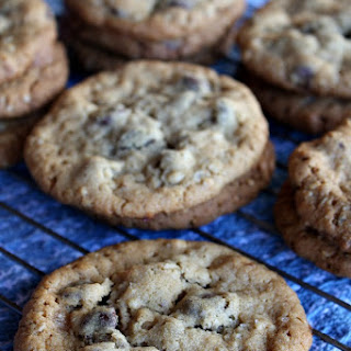 Peanut Butter Chocolate Chip Oatmeal Cookies with Sea Salt.