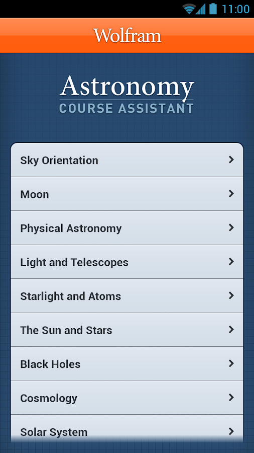 Astronomy Course Assistant - screenshot