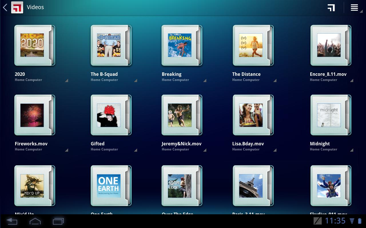 MotoCast for Tablets - screenshot