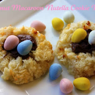 Coconut Macaroon Nutella Cookie Nests.