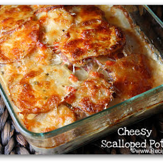 Scalloped Potatoes with Peppers & Swiss Cheese.
