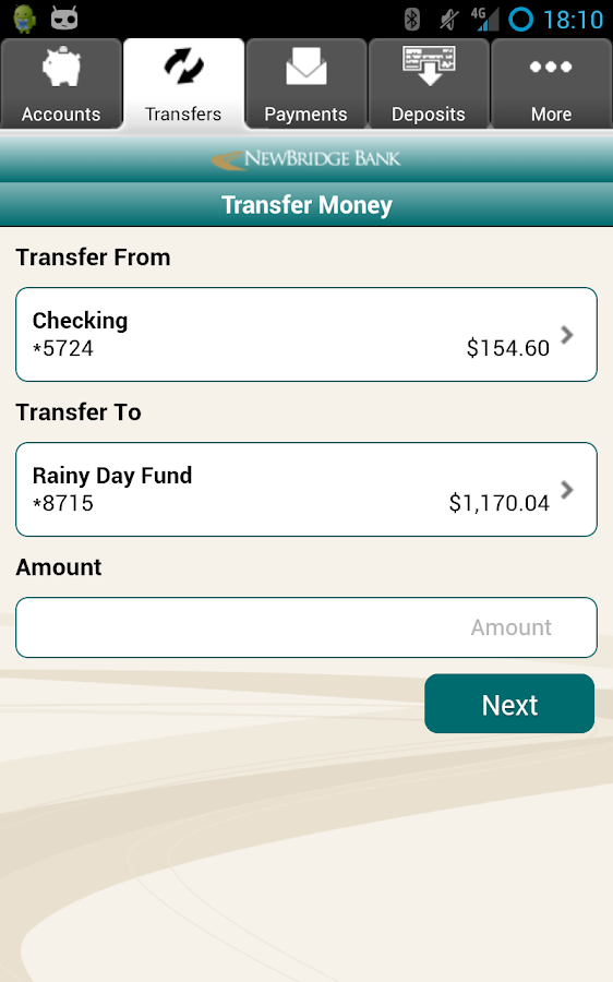 NewBridge Bank Mobile Banking - screenshot