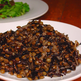 Minnesotan Lentils with Wild Rice and Caramelized Onions.