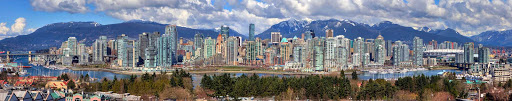 day-panorama-Vancouver-British-Columbia - View of Vancouver, British Columbia from Fairview Slopes