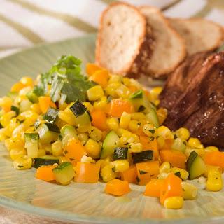 Toasted Corn & Zucchini Saute.