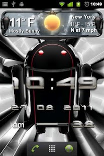 beautiful weather widget black - screenshot thumbnail