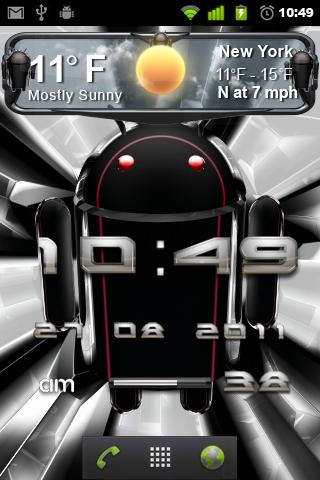 beautiful weather widget black - screenshot