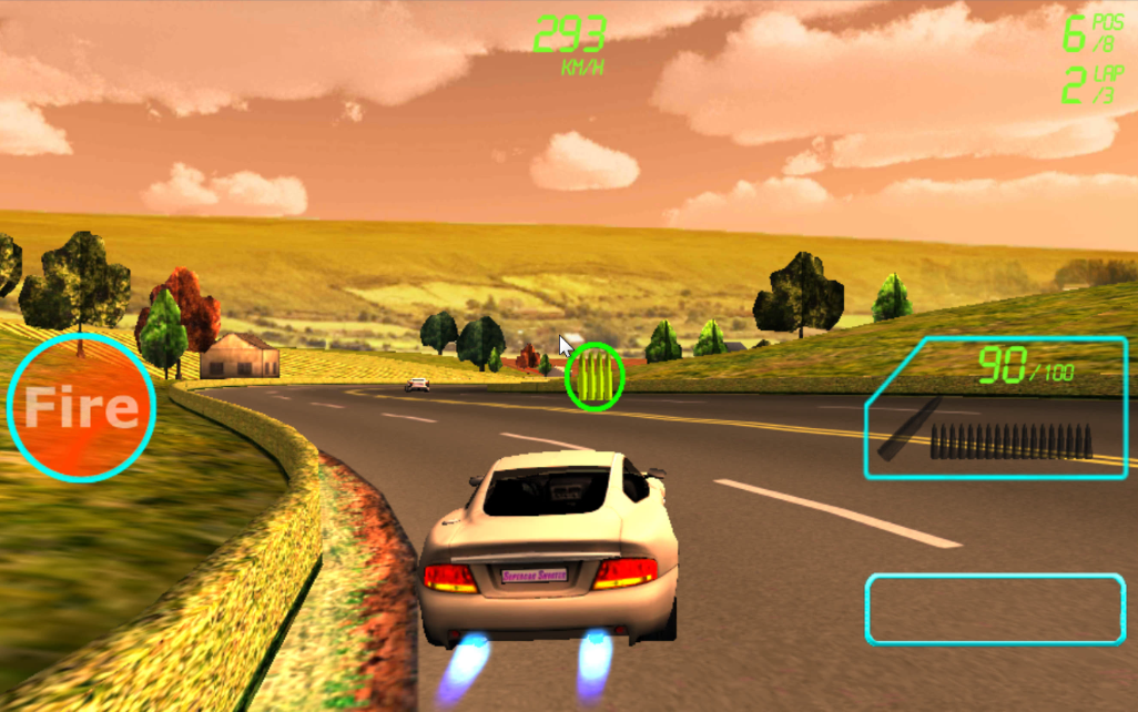 Supercar Shooter : Death Race - screenshot