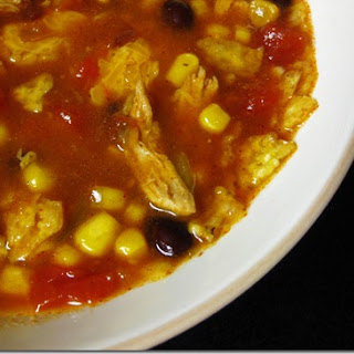 Chicken Tortilla Crock Pot Soup.