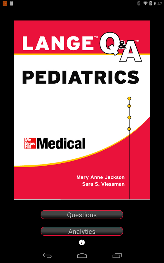 Pediatrics LANGE Q&A - screenshot