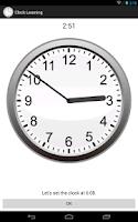 Screenshot of Clock Learning