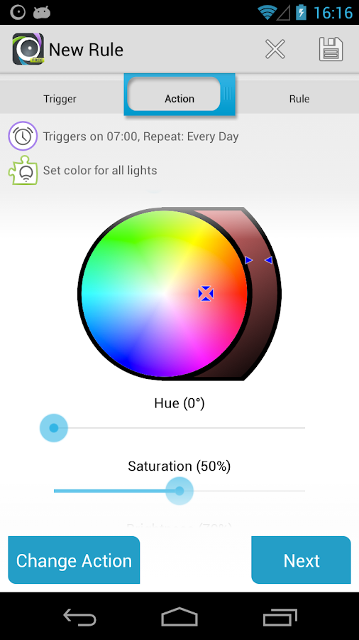 AutomateIt LIFX Plugin- screenshot