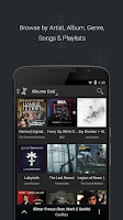 Screenshot of doubleTwist Music Player, Sync