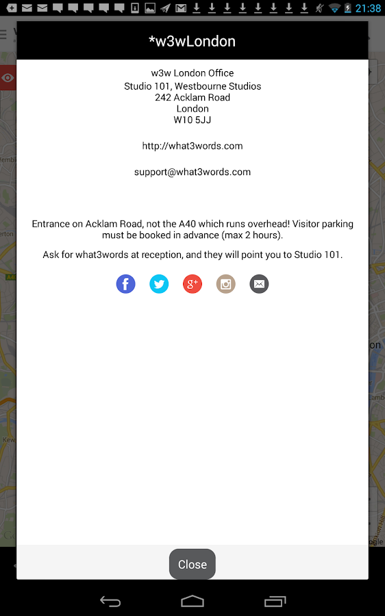 what3words - screenshot