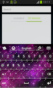 Pink Galaxy Keyboard - screenshot thumbnail