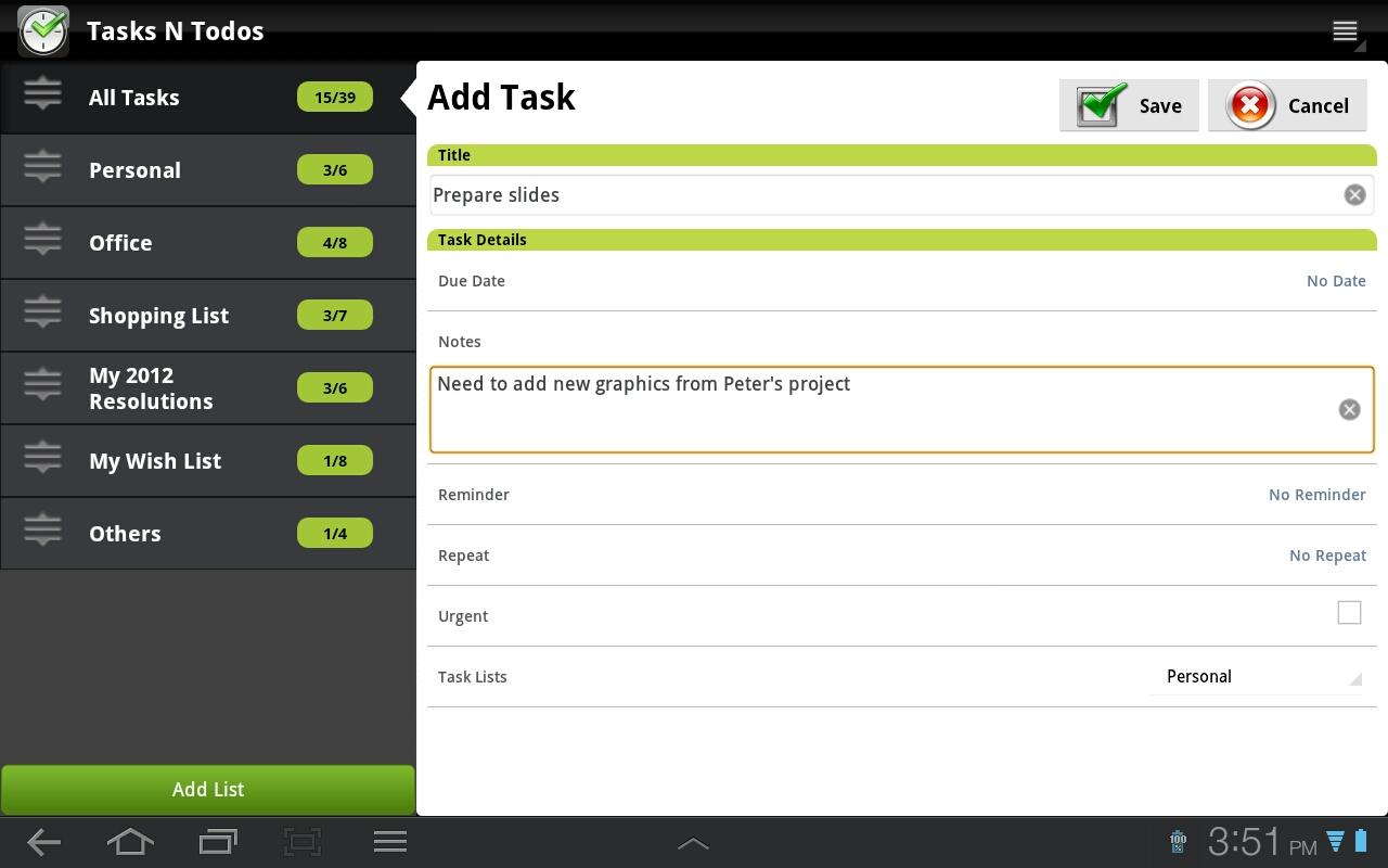 Todo List - Tasks N Todo's- screenshot