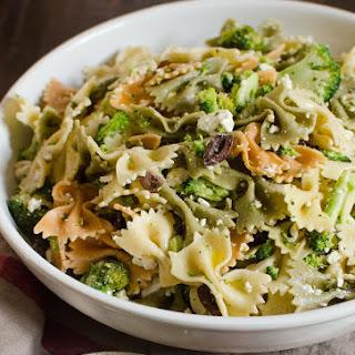 Broccoli and Feta Pasta Salad.