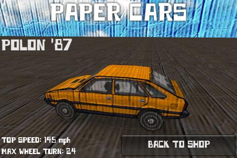 Paper Cars BETA - screenshot