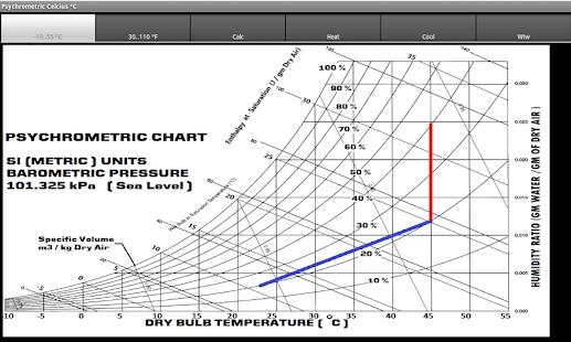 Psychrometric Chart- screenshot thumbnail